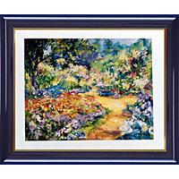 アートポスター 「6月のモネの庭園」 J・ラモウレックス作