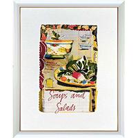 アートポスター 「スープ & サラダ」 メリッサ・スィート作