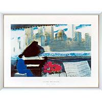 アートポスター 「ミュージック イン ニューヨーク」 A・ブラジリエ作