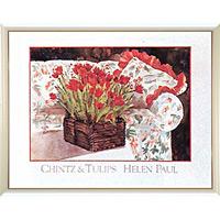 アートポスター 「チンツ アンド チューリップ」 ヘレン・ポール作