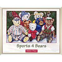 アートポスター 「スポーツ 4 ベアーズ」 ヘレン・ポール作