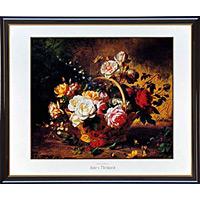 アートポスター 「花のバスケット」 メタード作