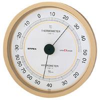 スーパーEX高品質温度計・湿度計 壁掛用 直径(約)162mm シャンパンゴールド (EX-2748)