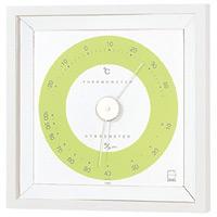 リビ温度計・湿度計 グリーン