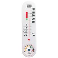 生活管理温度計・湿度計 クリアホワイト