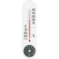 くらしのメモリー温度計・湿度計 ホワイト