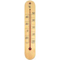 木製寒暖計 木目