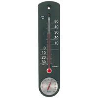 くらしのメモリー温度計・湿度計 ブラック