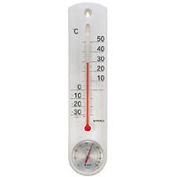 くらしのメモリー温度計・湿度計 シルバー