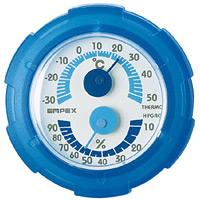 シュクレミニ温度計・湿度計 ブルー