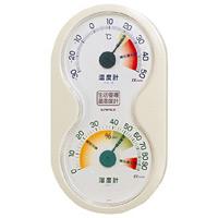 生活管理温度計・湿度計 掛け・置き兼用 (TM-2412)