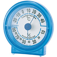シュクレ温度計・湿度計 ブルー