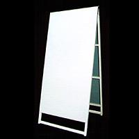 木枠付白トタンA型看板 900×1800+足200 A-26