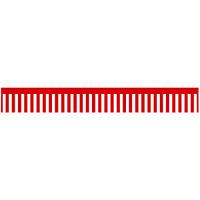 ロール幕 (3889) 紅白幕 H300×W7800mm