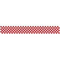 ロール幕 (3890) 市松模様 紅白 H300×W7800mm