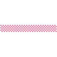 ロール幕 (3891) 市松模様 ピンク H300×W7800mm