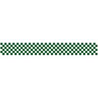 ロール幕 (3892) 市松模様 緑 H300×W7800mm