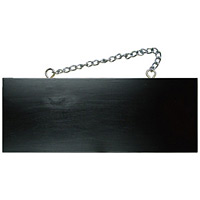 ブラック木製サイン (中横) (4268) 無地