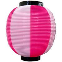 【九寸丸】ストライプカラーポリちょうちん (8881) ピンク白
