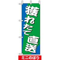ミニのぼり旗 (9537) W100×H280mm 獲れたて直送