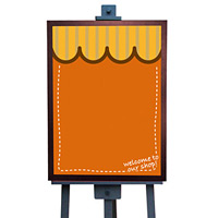 マジカルボード L ウエルカム (オレンジ) (4982)