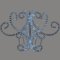LEDロープライトシャンデリア (6枚羽)