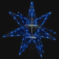 LEDセパレーツギャラクシー 大 ブルー 4枚羽