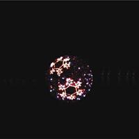 LEDティンセルボール スノーフレーク レッド 小