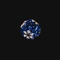 LEDティンセルボール スノーフレーク ブルー 小
