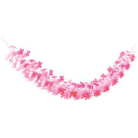 25段桃色桜ガーランド