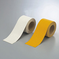 反射タイプ路面貼用テープ 合成ゴム 幅広100mm幅×5m巻 (374-27)