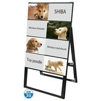 ブラック A4サイズ カードケーススタンド看板 規格:A4横×8枚 片面 ハイタイプ (BCCSK-A4Y8KH)