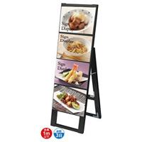 ブラック B5サイズ カードケーススタンド看板 規格:B5横×4枚 片面 (BCCSK-B5Y4K)