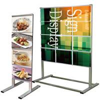 垂直型カードケースメッセージスタンド A4サイズ対応 規格:A4横×4 片面 (CCMS-A4Y4K)
