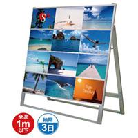 A4サイズ カードケーススタンド看板 規格:A4横×12枚 片面 (CCSK-A4Y12K)