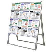 A4サイズ カードケーススタンド看板 規格:A4横×12枚 片面 ハイタイプ (CCSK-A4Y12KH)