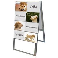 A4サイズ カードケーススタンド看板 規格:A4横×16枚 両面 ハイタイプ (CCSK-A4Y16RH)