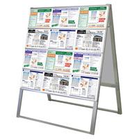 A4サイズ カードケーススタンド看板 規格:A4横×24枚 両面 ハイタイプ (CCSK-A4Y24RH)