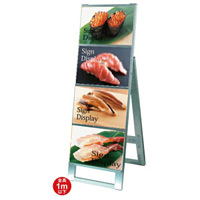 A4サイズ カードケーススタンド看板 規格:A4横×4枚 片面 (CCSK-A4Y4K)