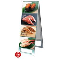 A4サイズ カードケーススタンド看板 規格:A4横×8枚 両面 (CCSK-A4Y8R)