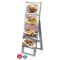 B5サイズ カードケーススタンド看板 規格:B5横×4枚 片面 (CCSK-B5Y4K)