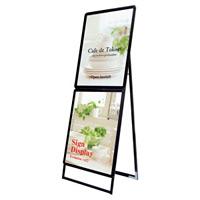 屋内用コンビ・ポスターグリップスタンド看板 規格:A1×A1 ブラック (PGSKC-A1A1KB)