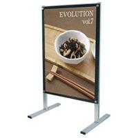 A1ポスター用 屋内用メッセージスタンド 面板カラー:ブラック(片面) (PSMS-A1KB)