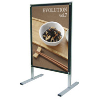 A1ポスター用 屋内用メッセージスタンド 面板カラー:ブラック(両面) (PSMS-A1RB)