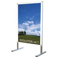 B1ポスター用 屋内用メッセージスタンド 面板カラー:ホワイト(片面) (PSMS-B1KW)