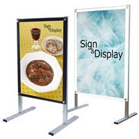 B2ポスター用 屋内用メッセージスタンド 面板カラー:ブラック(片面) (PSMS-B2KB)