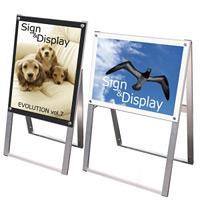 化粧ビス式ポスター用スタンド看板 A2 規格:片面(タテ) ブラック (PSSK-A2KB)