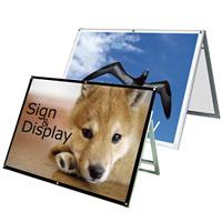 化粧ビス式ポスター用スタンド看板 B0ヨコ ロータイプ 片面ブラック (PSSK-B0YLKB)