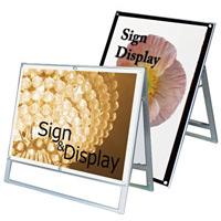 化粧ビス式ポスター用スタンド看板 B1 ロータイプ 片面ブラック (PSSK-B1LKB)