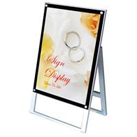 化粧ビス式ポスター用スタンド看板 B2 片面 ブラック (PSSK-B2KB)